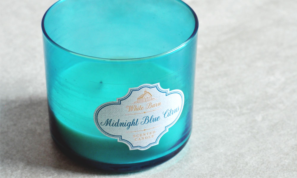 Midnight Blue Citrus BBW Candle Review