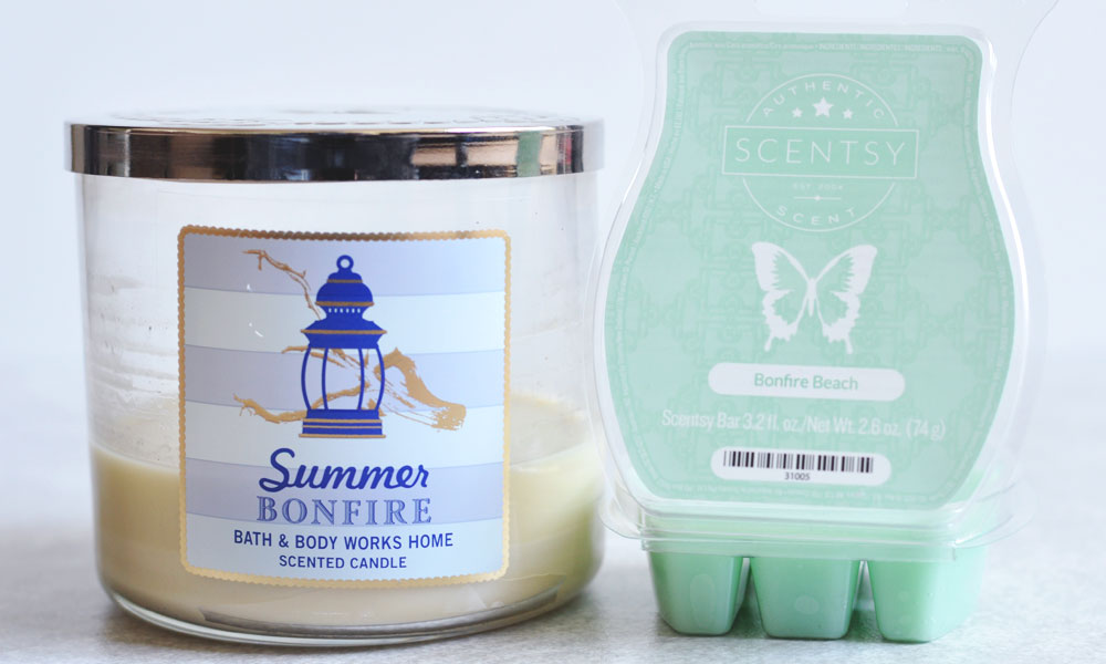 BBW Summer Bonfire Dupe - Scentsy Bonfire Beach - Melting With Michelle
