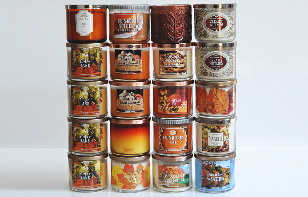 Fall 2017 Bath & Body Works 3-Wick Candle Collection