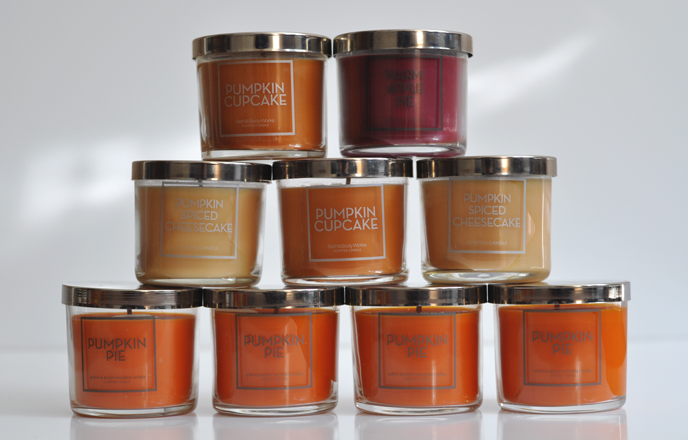 Fall 2017 Bath & Body Works Tester Candle Collection