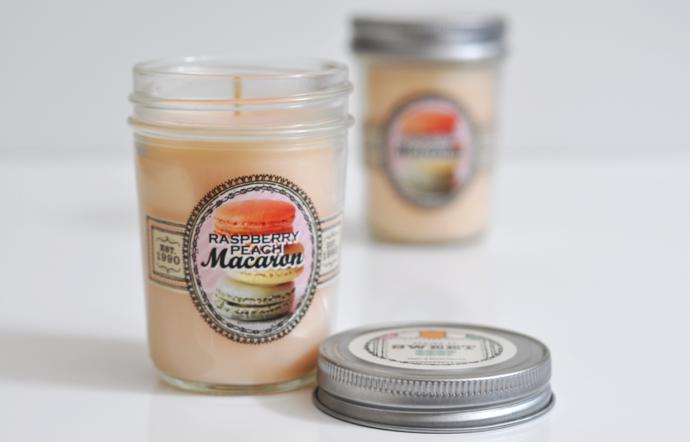 Raspberry Peach Macaron - Bath & Body Works Retired Candle